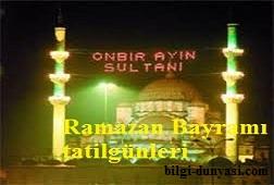 2012 ramazan bayramı tatili hangi günler
