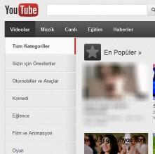 YouTube artık Türkçe1