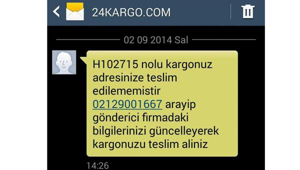 24Kargo.com Telefon dolandırıcılığı DİKKAT!